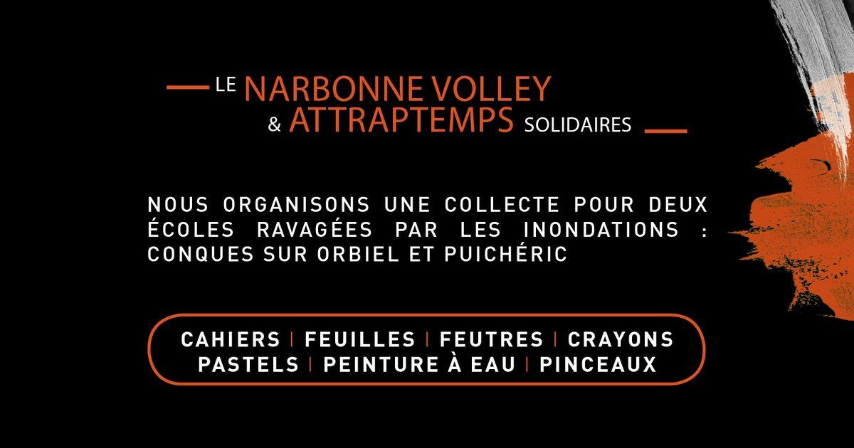 Le @narbonnevolley solidaire à l'occasion du match @LNVofficiel #LAM vs @NRMV44...