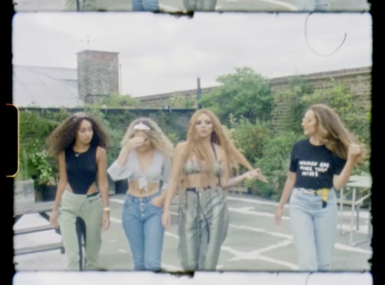 It's the queen and Little Mix…  #WomanLikeMe @NICKIMINAJ ���� https://t.co/bpRKID5WX0 https://t.co/EXlJfGPCFO