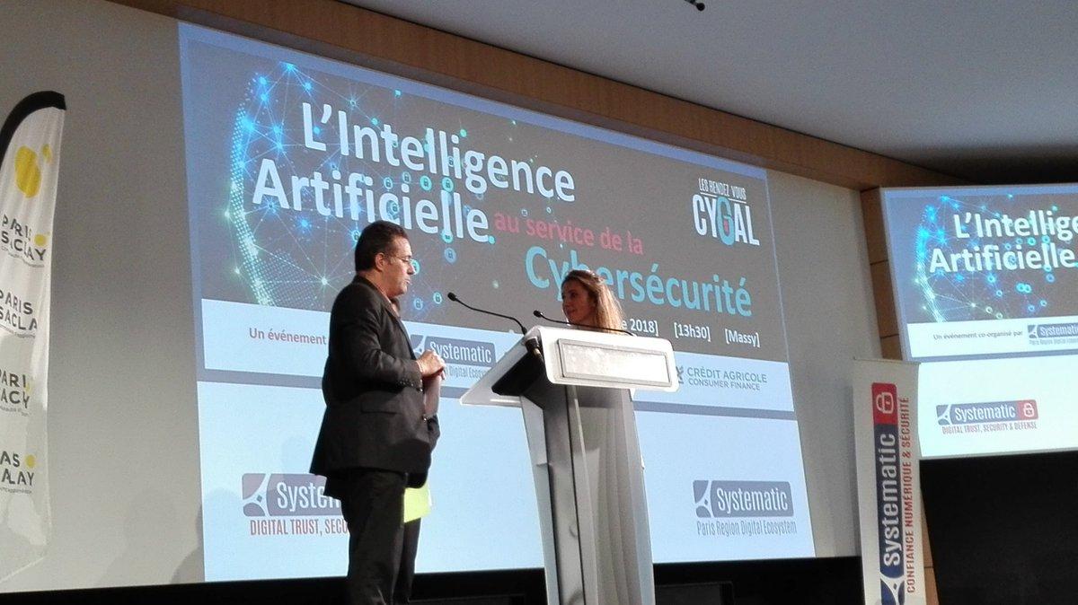Lancement IA et cybersécurité Nicolas Samsoen co organisation CA Paris-Saclay et Systematic au Crédit Agricole Consumer Finance https://t.co/ny1fdYItf1