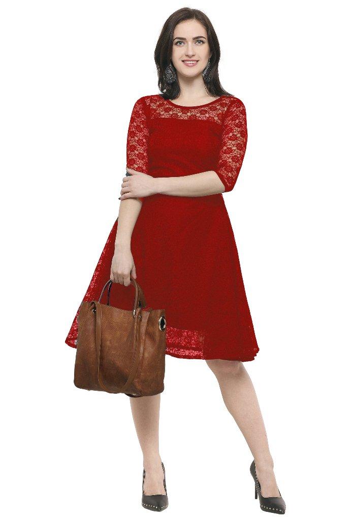 http://www.qlinekart.com/Dresses/Midi-dresses/Red-Net-Fit-And-Flare-One-Piece-Dress-SHTL-164