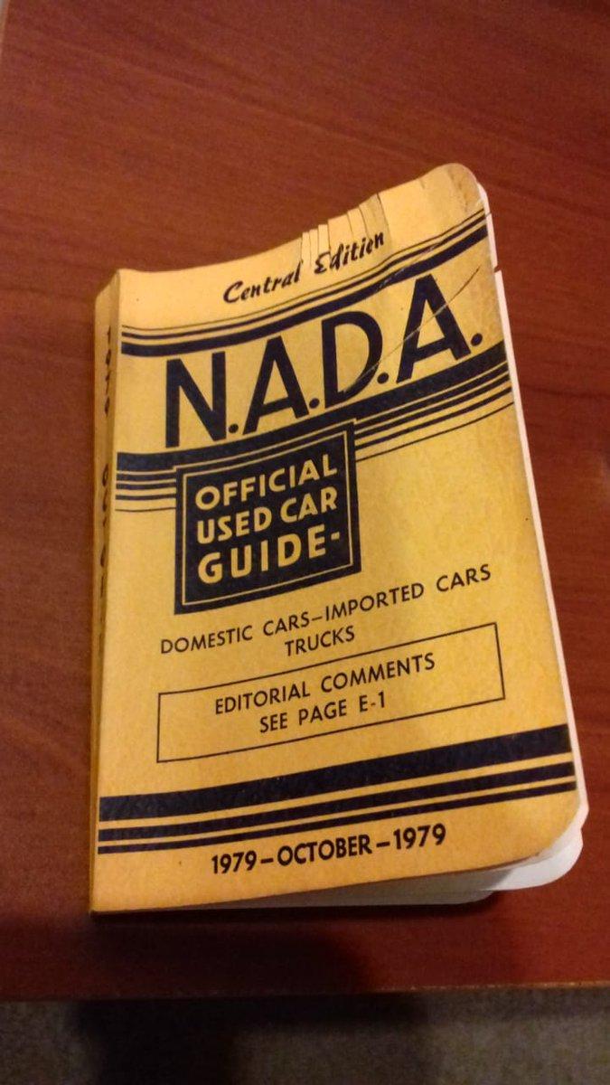 Nada used car guide.