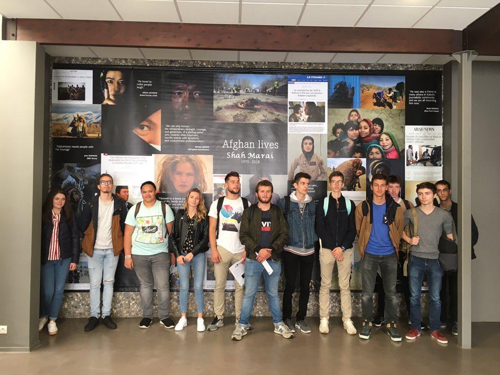A Bayeux avec les BTS pour visiter les expositions du Prix Bayeux des correspondants de guerre. #PBCN2018  - FestivalFocus