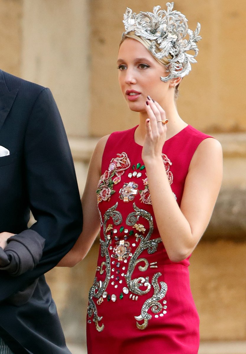 Princess Olympia of Greece wearing Dolce&Gabbana at the wedding of Princess Eugenie of York and Jack Brooksbank at St Georges Chapel on October 12th, 2018 in Windsor, England. #DGCelebs #DGWomen