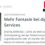 "Image for the Tweet beginning: ""Mehr Fantasie bei digitalen Services""  Unser"