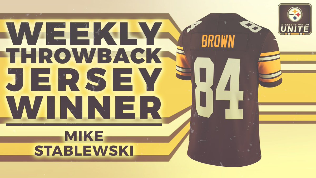 Congratulations to Mike Stablewski - the winner of a throwback Antonio Brown jersey in this weeks giveaway! Make sure you keep entering daily for a chance to be next weeks winner. ENTER ≫ stele.rs/jbiO9p