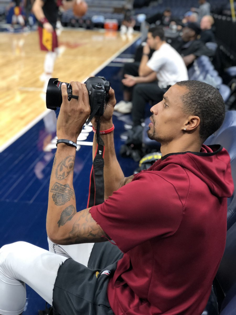 .@George_Hill3 knows your best side. New season x new hobby 📸  #BeTheFight