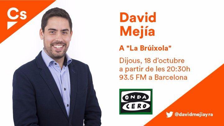 📻En uns minuts no et perdis al diputat @davidmejiayra a @labruixola_cat En directe 📲 ondacero.es/emisoras/catal…