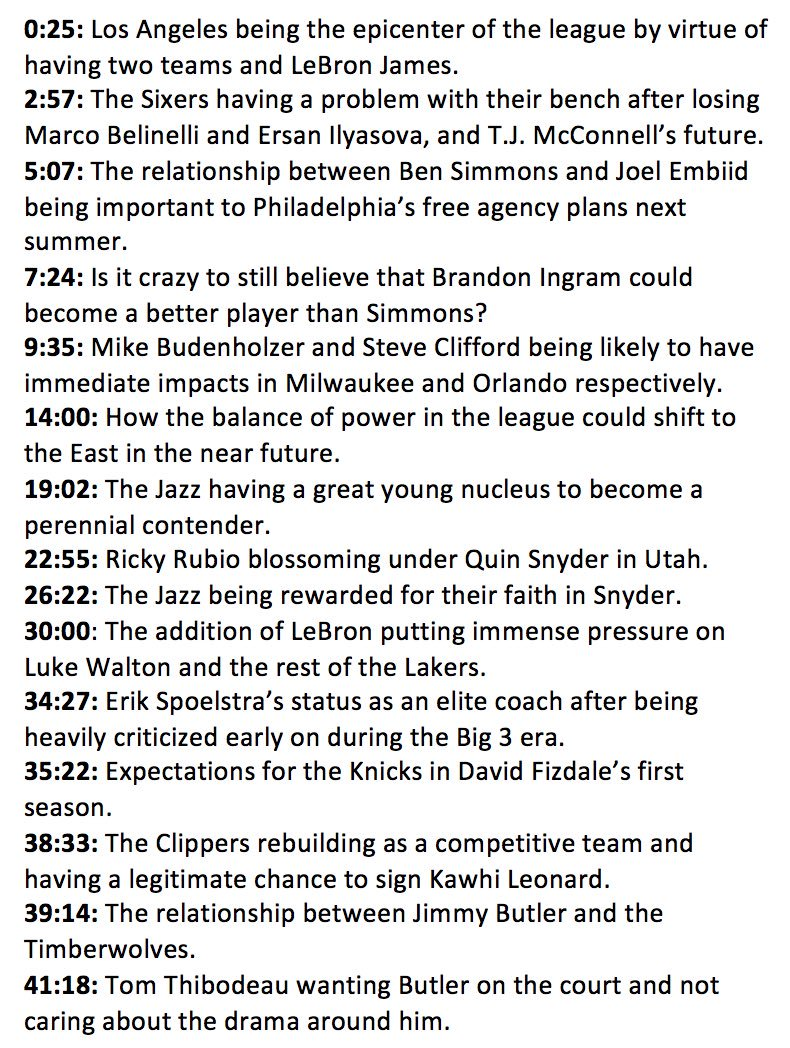 Woj Pod: Around the league with @ZachLowe_NBA on Embiid/Simmons, Celtics, Lakers, Jazz, Jimmy Butler and impact new coaches. https://t.co/uFYHZGP5Y2
