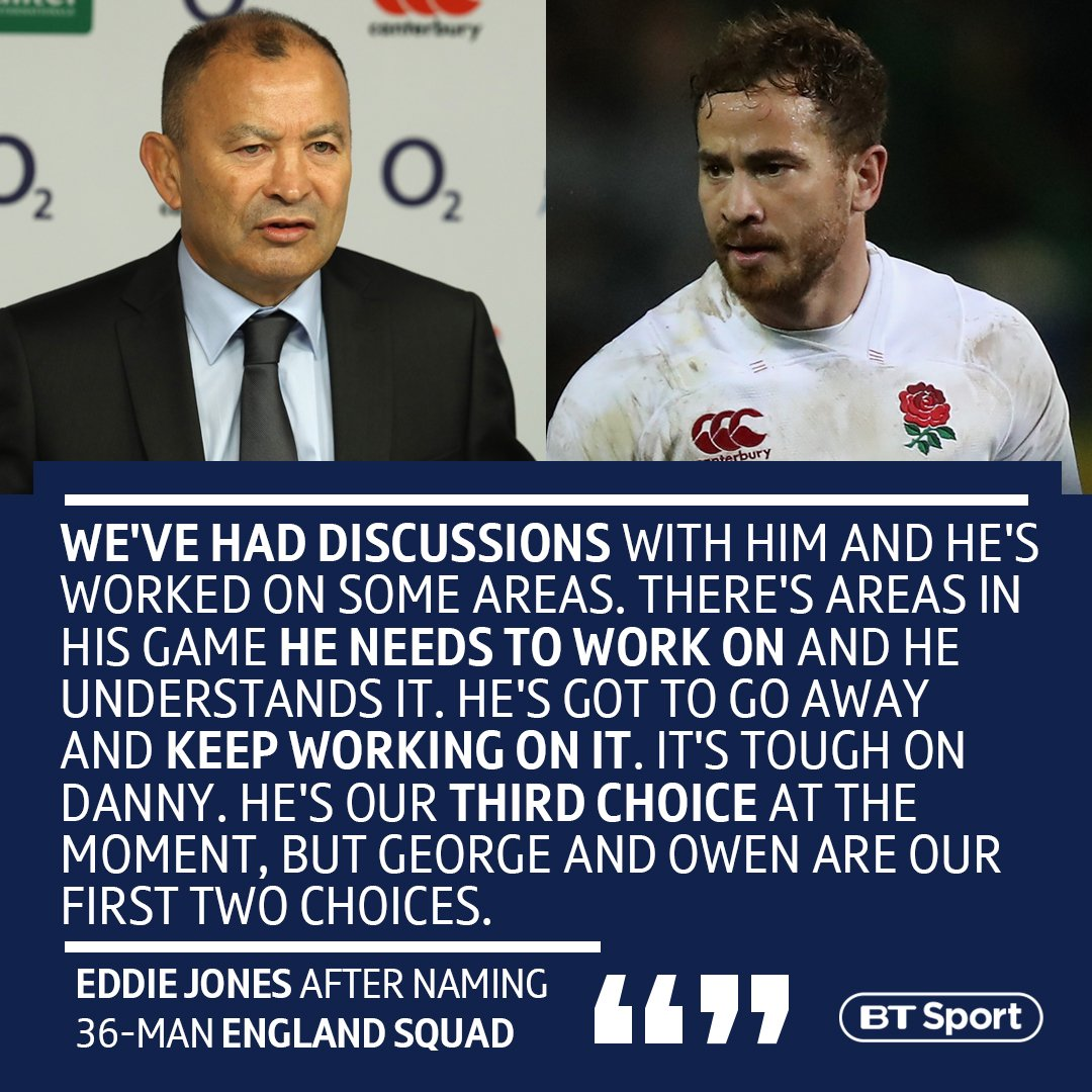"""test Twitter Media - Eddie Jones has explained why he left Danny Cipriani out of his England squad for the Autumn internationals...  Though he did say """"Everyone is a World Cup possible."""" 👀 https://t.co/NvLYvTqV8O"""