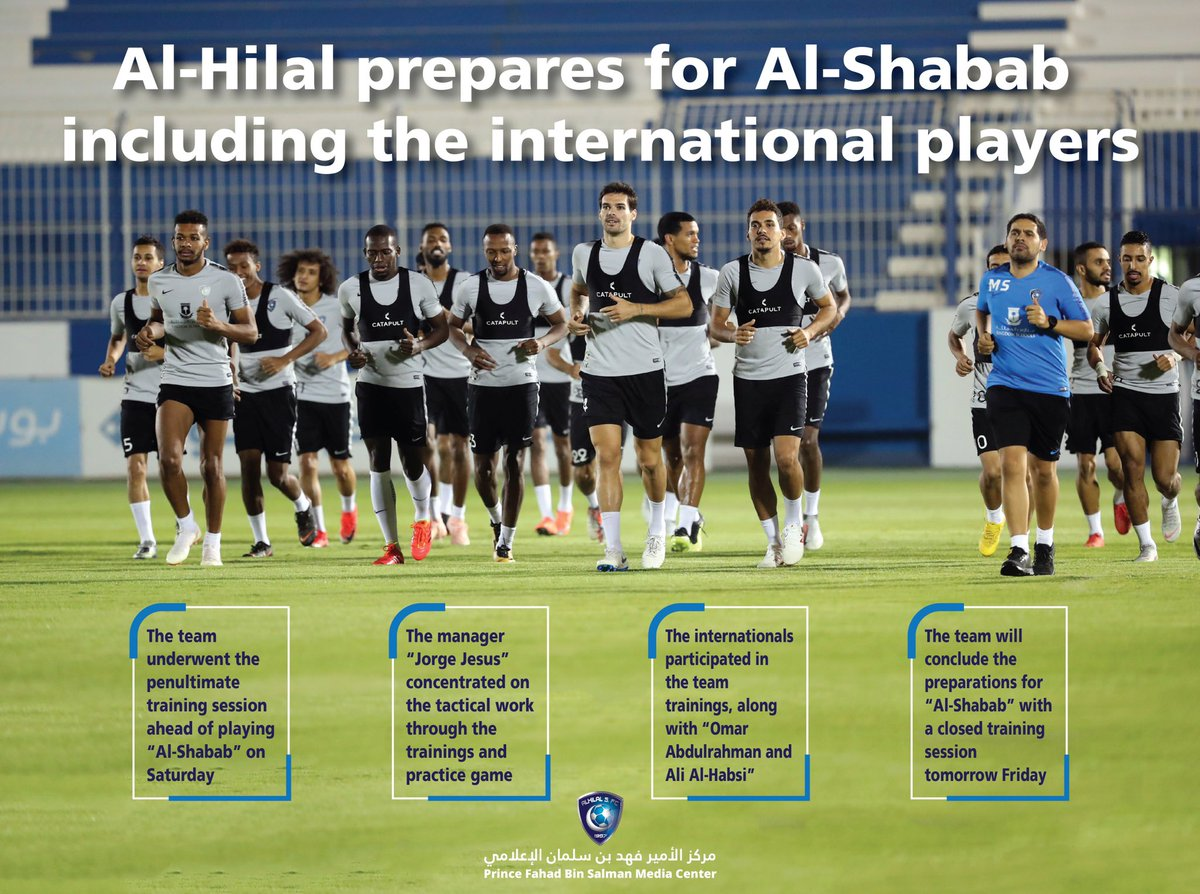 "#Alhilal continued the preparations for ""Al-Shabab"" match with the participation of the international players  #Alhilal_Infographic<br>http://pic.twitter.com/nHefufmd6o"