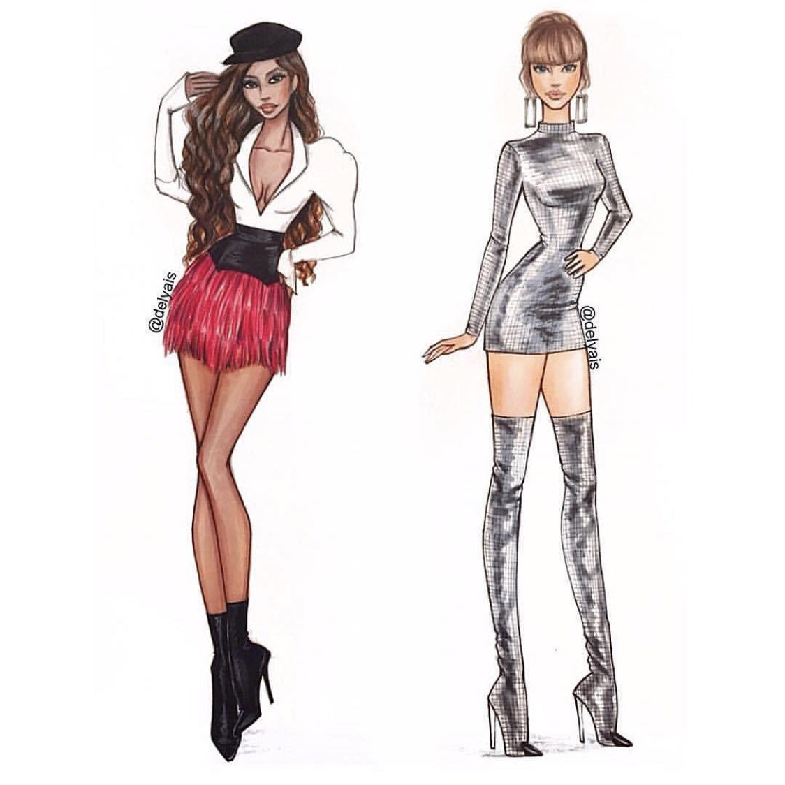 IG | tyrabanks: Hey @taylorswift13. Lil artistic throwback of us at the @amas. Love the shiny boots, girl........................Tyra/Eve <br>http://pic.twitter.com/OBbGYkkvWn