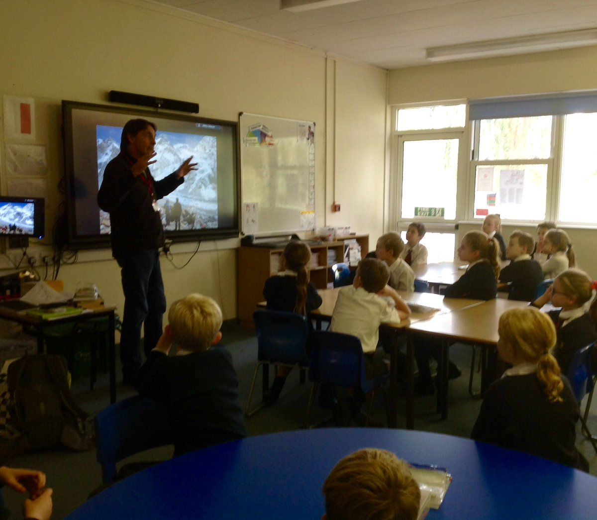 test Twitter Media - Author Matt Dickinson enthralled Year 5 pupils with tales of derring-do in the Himalayas and tracking the mysterious Yeti! #gorseyenglish https://t.co/YFiaiRSkRi