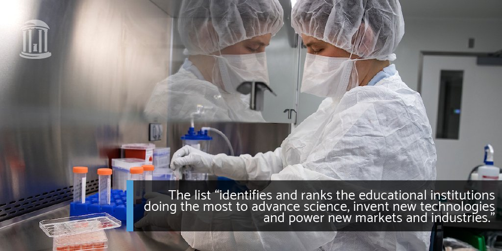 Carolina makes innovation fundamental in everything we do. Now @Reuters has named us one of the top 10 most innovative universities in the world! 🙌🏾💡 https://t.co/8Mp5HeFnSl #UNC https://t.co/6qyuOJ73Fz