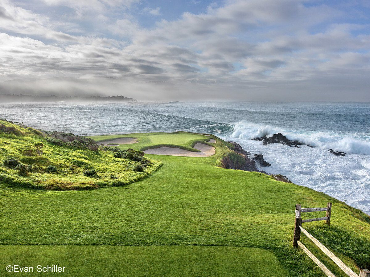 Approaching storm on the 7th at @PebbleBeachGolf. love this place and the ever changing weather that makes every day fascinating. Purchase this and other photos of Pebble at: evanschillerphotography.com/store.html @usopengolf #pebblebeachgolflinks #usopen2019