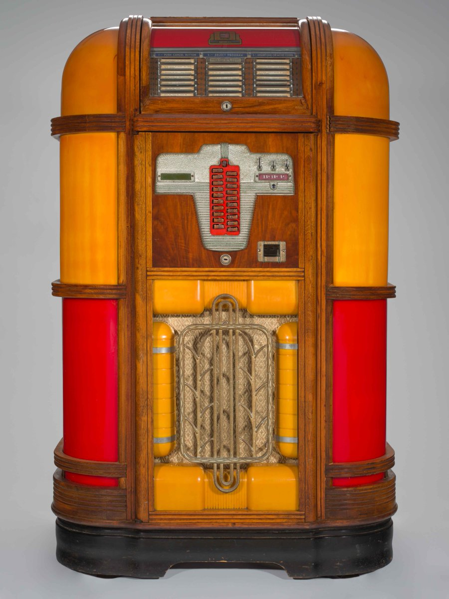 This Thursdays #decoobject is a 1939 Jukebox featured both in our book Art Deco Chicago and the Chicago History Museums new exhibit: Modern by Design: Chicago Streamlines America. Pick up a copy at the Museum bookstore or order online at the link in our bio! #vintage #chicago