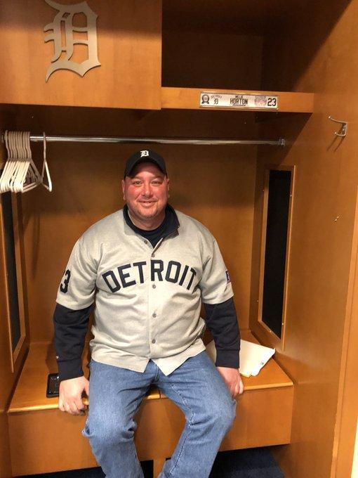 Happy Birthday! Repping my Horton jersey at the Willie Horton locker.