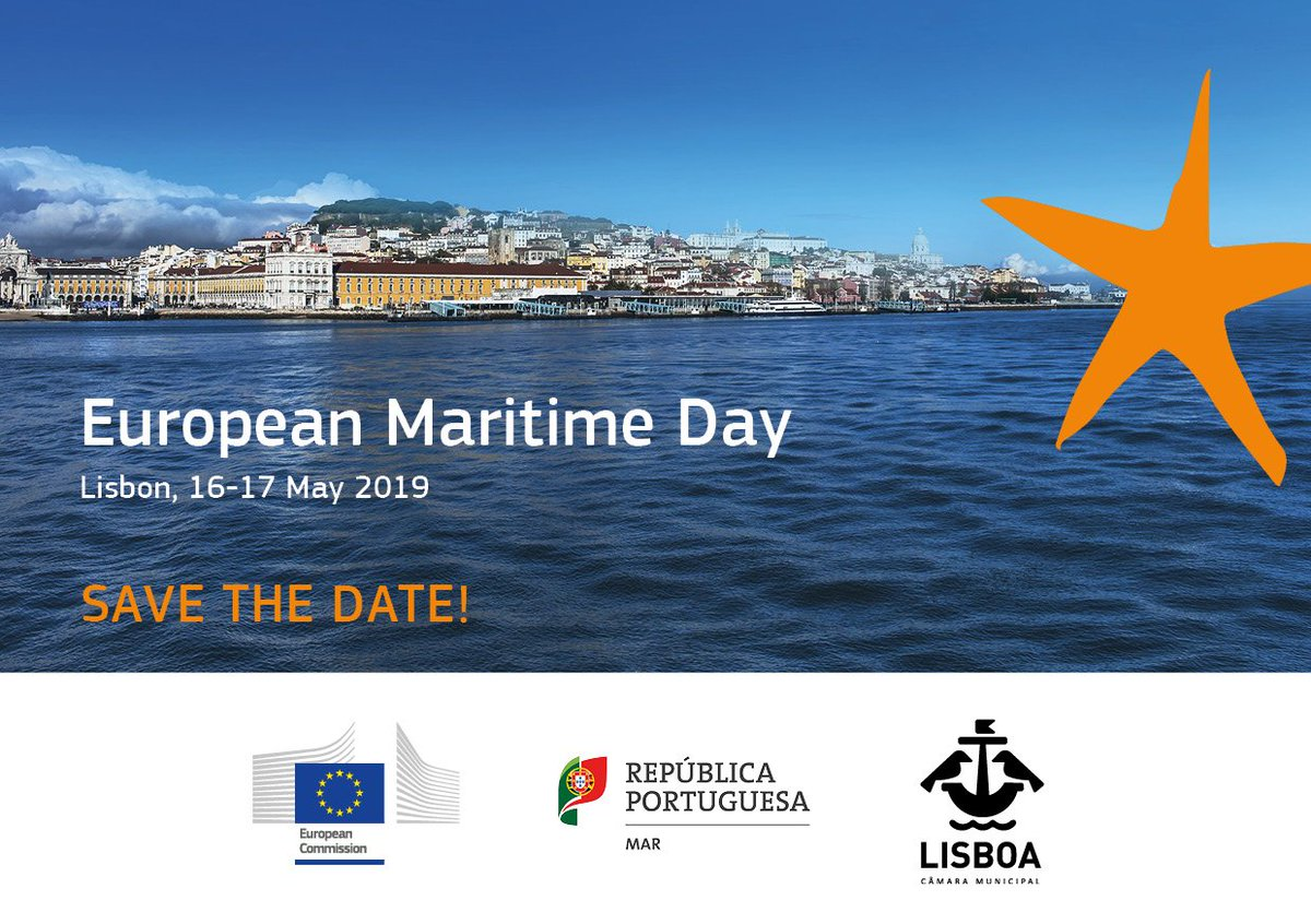 #SaveTheDate for EU #maritime day in #Lisbon next year! 16-17 May 2019 #BlueprintMATES #EMD2019 #EUBlueprintSkills