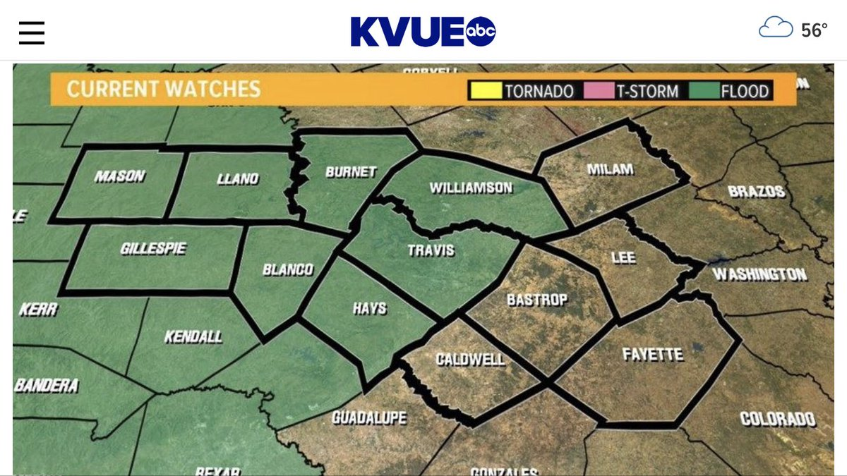 UPDATE | NWS: ...FLASH FLOOD WATCH NOW IN EFFECT THROUGH FRIDAY MORNING...  #kvue #atxwx.<br>http://pic.twitter.com/l4sxwHFltd