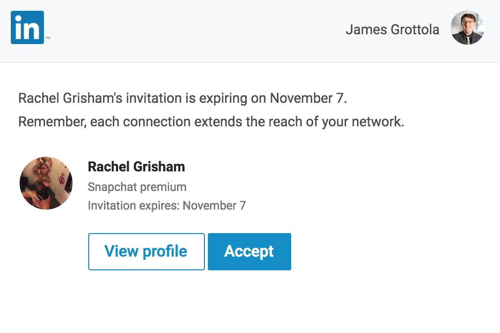 really just got an invite to buy nudes on LINKEDIN of all websites... this industry has gone too far nowhere is safe