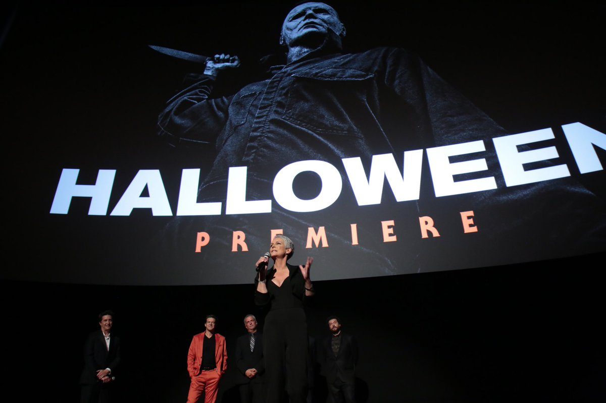 And so it begins. 40 years of blood, sweat tears, &amp; more blood. Creative people using the medium of the moving picture 2 tell a gruesome story of havoc reaked &amp; revenge won. So deeply proud to have played Laurie Strode 4 all these years. Happy Halloween everyone. @halloweenmovie<br>http://pic.twitter.com/YueeBlk7zU