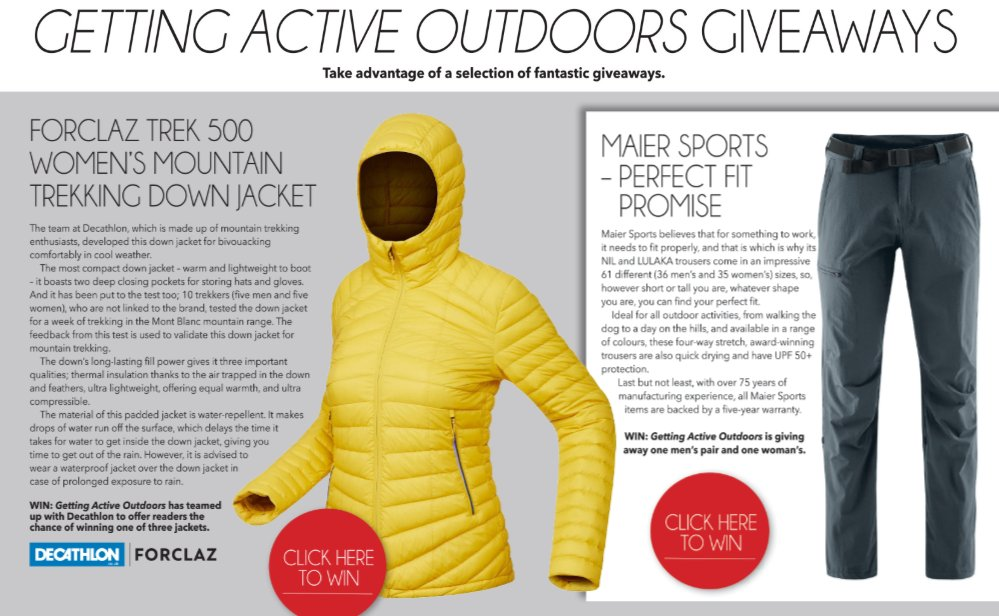 63382c9a9e6 We've got a fantastic Forclaz Trek 500 Women's Mountain Trekking Down Jacket  to give away from our friends at @DecathlonUK.