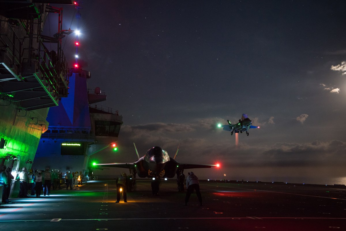 Brought to you by the same @LockheedMartin photo team that captured this beautiful shot! #F35onDeck<br>http://pic.twitter.com/vU79NL7Jag