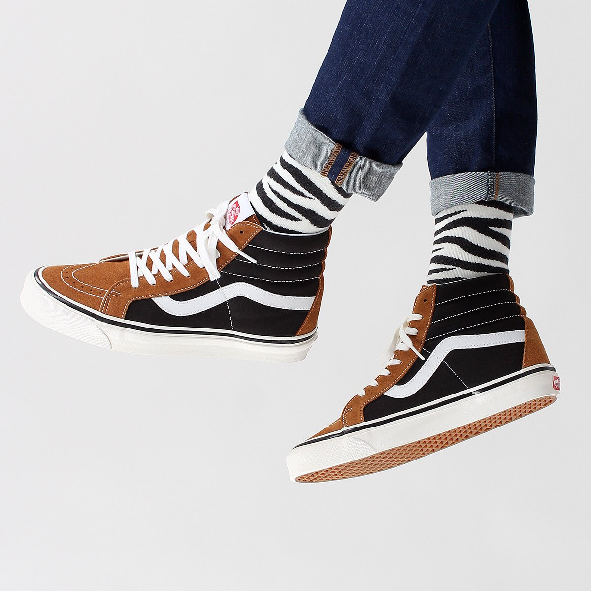 991041b8032 Vans SK8-Hi 38 DX Shoes – (Anaheim Factory) OG Hart Brown   OG Black...  https   goo.gl oubYJY Jeans    edwineurope ED-85 Slim Tapered Power Blue  11.5oz ...