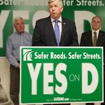 Image for the Tweet beginning: Governor @mikeparson discusses Prop D