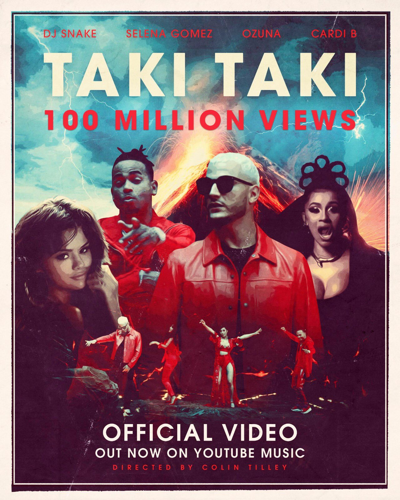 """""""Taki Taki"""" music video has over 100M views on YouTube in just 8 days !!!! ���� https://t.co/DA2WsL2IEs"""
