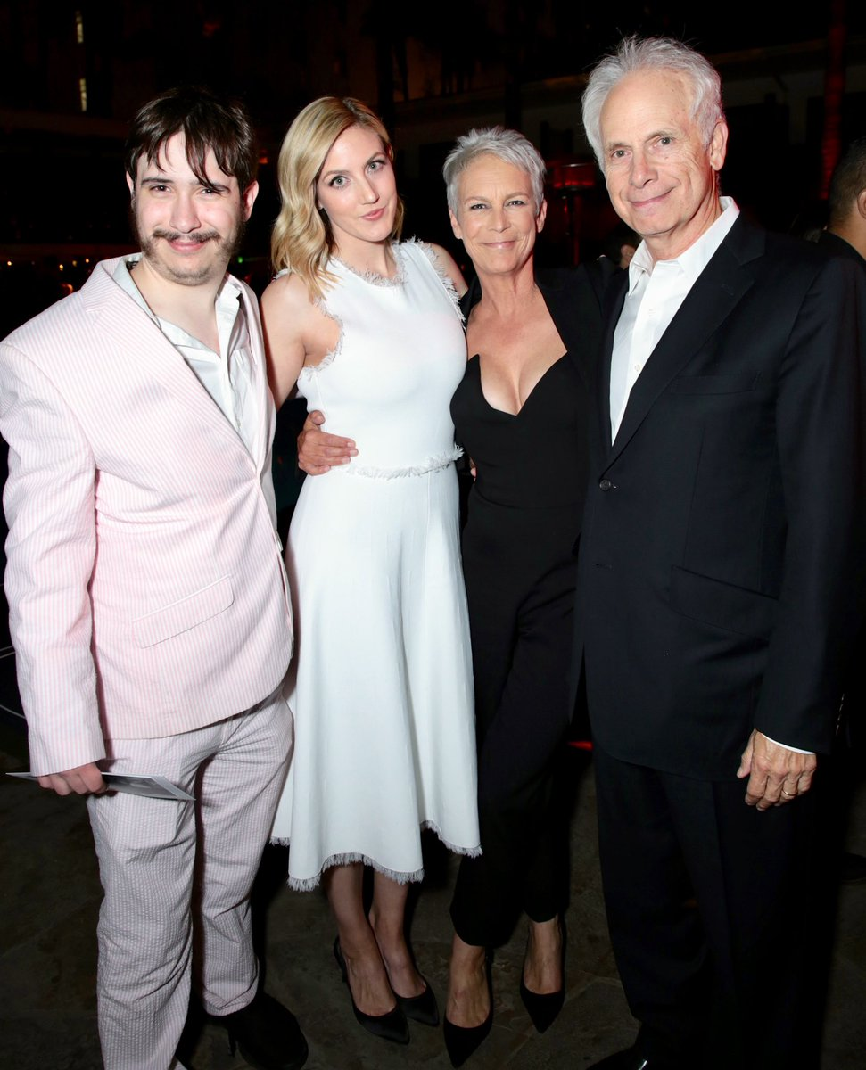 The most important part of my work is the people I get to come home from that work to. My daughter, Annie, my son, Tom and my husband, Christopher offered me love and support last night and I am so lucky to call them mine. @halloweenmovie<br>http://pic.twitter.com/faVez2iBwq