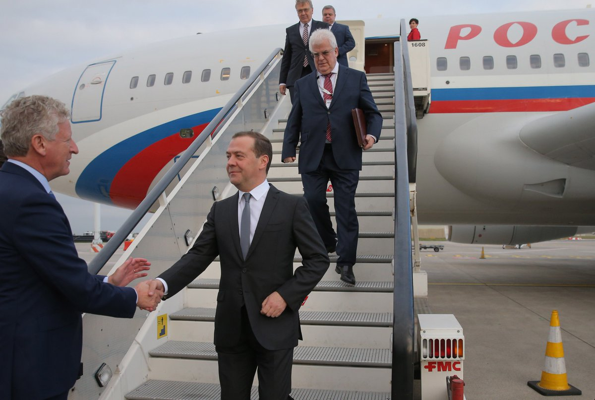 Dmitry Medvedev has arrived in Brussels, where he will take part in the ASEM Summit