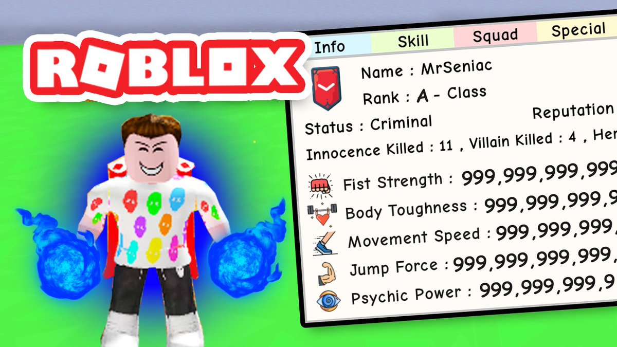 Seniac On Twitter I Maxed Out My Stats In Super Power Training