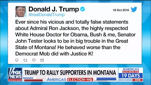 President @realDonaldTrump to rally supporters in Montana https://t.co/ccZgIkFwuQ