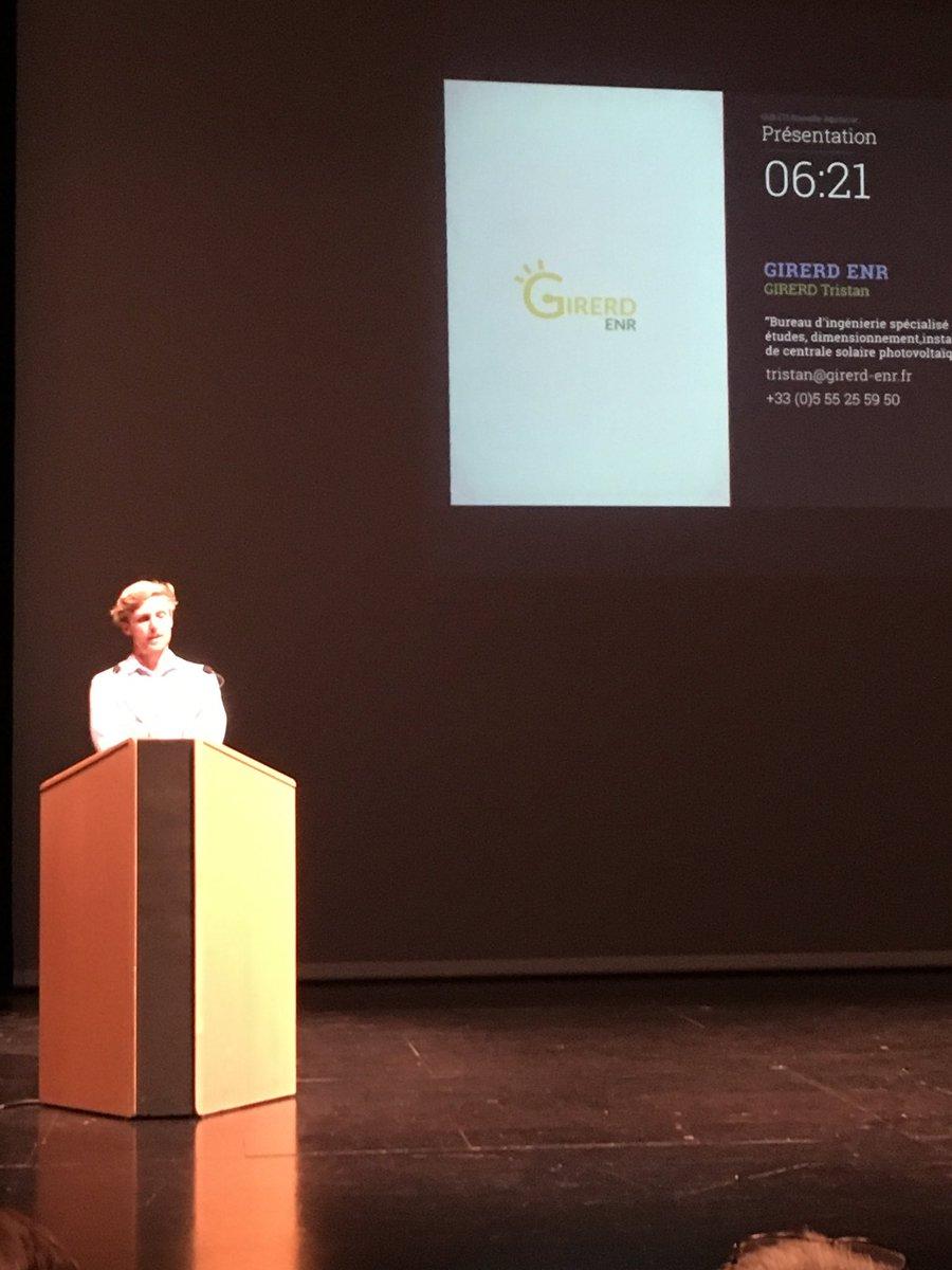 @Tristan Girard @Objat expert logiciel auto consommation @cci Corrèze promotion de l'auto consommation sur les zones de @agglo BRIVE #pitch devant @club ETI @nouvelle Aquitaine  - FestivalFocus