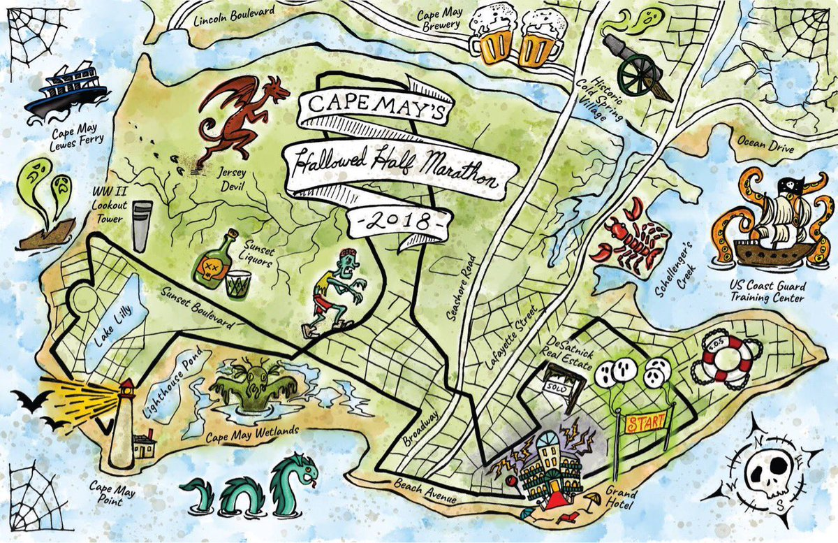Cape May Hotel Map on