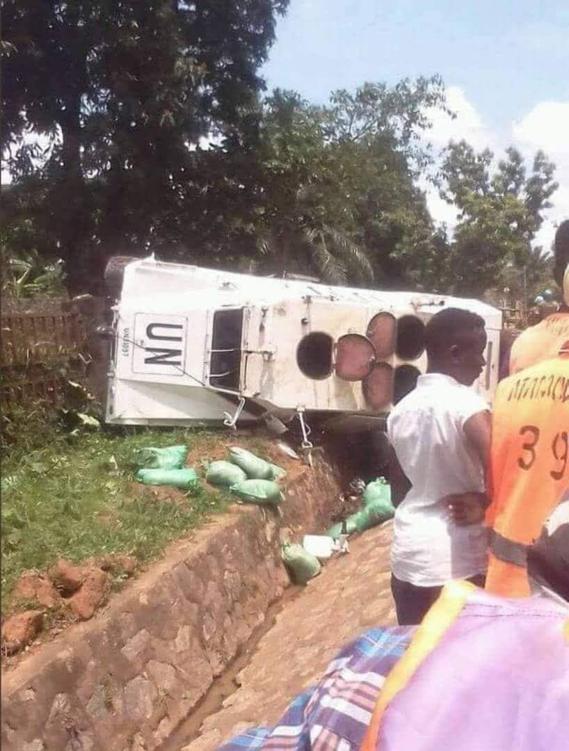A UN truck has overturned in Congo, only for observers to discover minerals packed in sacks. Corrupt UN!!! See above what they are up to. Peace keeping my foot! Africans are dying while the evil doers are enriching themselves... God punish them ALL. What a wonderful world!!! <br>http://pic.twitter.com/0ZnNK2AXQr