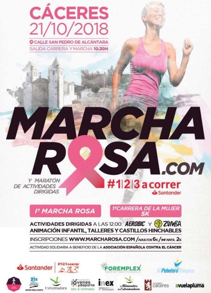 Os animamos a participar en la #marcharosa a beneficio de @aecc_es