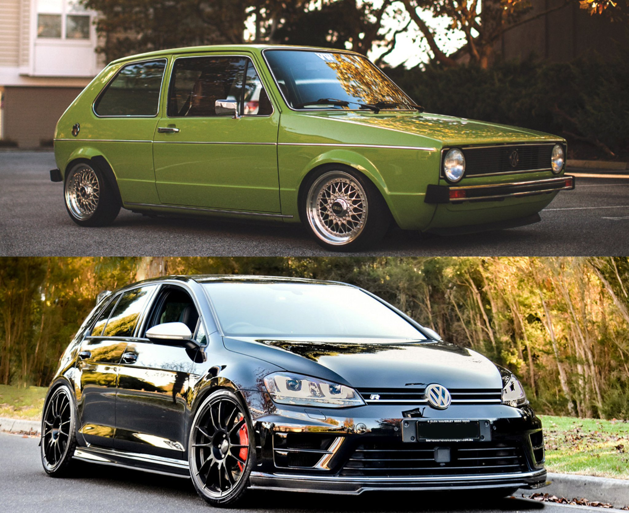 vw cool springs on twitter how does the throwback golf model compare to the modern one well to start they both have charming good looks and unforgettable style would you have driven twitter
