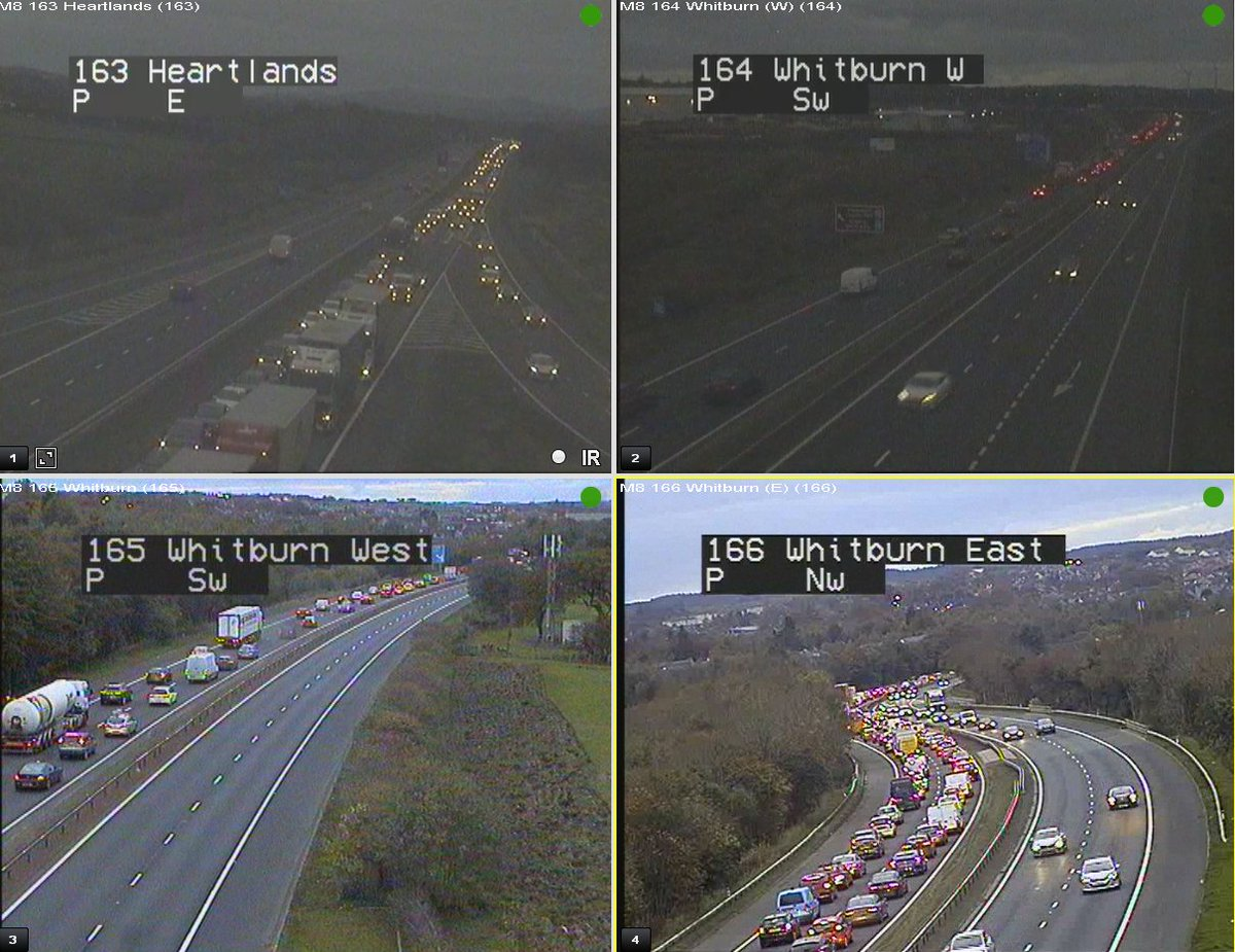 test Twitter Media - *NEW* ⚠️18:00  #M8 W/B J4A Hearthill to J5 Shotts - We have a 3 vehicle RTC in lane 2 (1 on the hard shoulder). Traffic very slow on approach 👎 Back to Whitburn  Police have arrived with TRISS en-route!  @SETrunkRoads https://t.co/AqkrqFl0D7