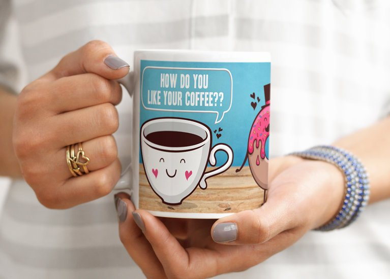 Start your day with Coffee ,Printed with your loved ones picture Custom designed Cup Printing  High quality printing. http://wasaelfanoon.com/   Check out instagram https://www.instagram.com/alwasaelfanoon/   #cupprinting #mugprinting #cofeecup  #محل_طباعة