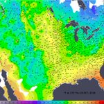 Image for the Tweet beginning: Midday temps across the U.S.