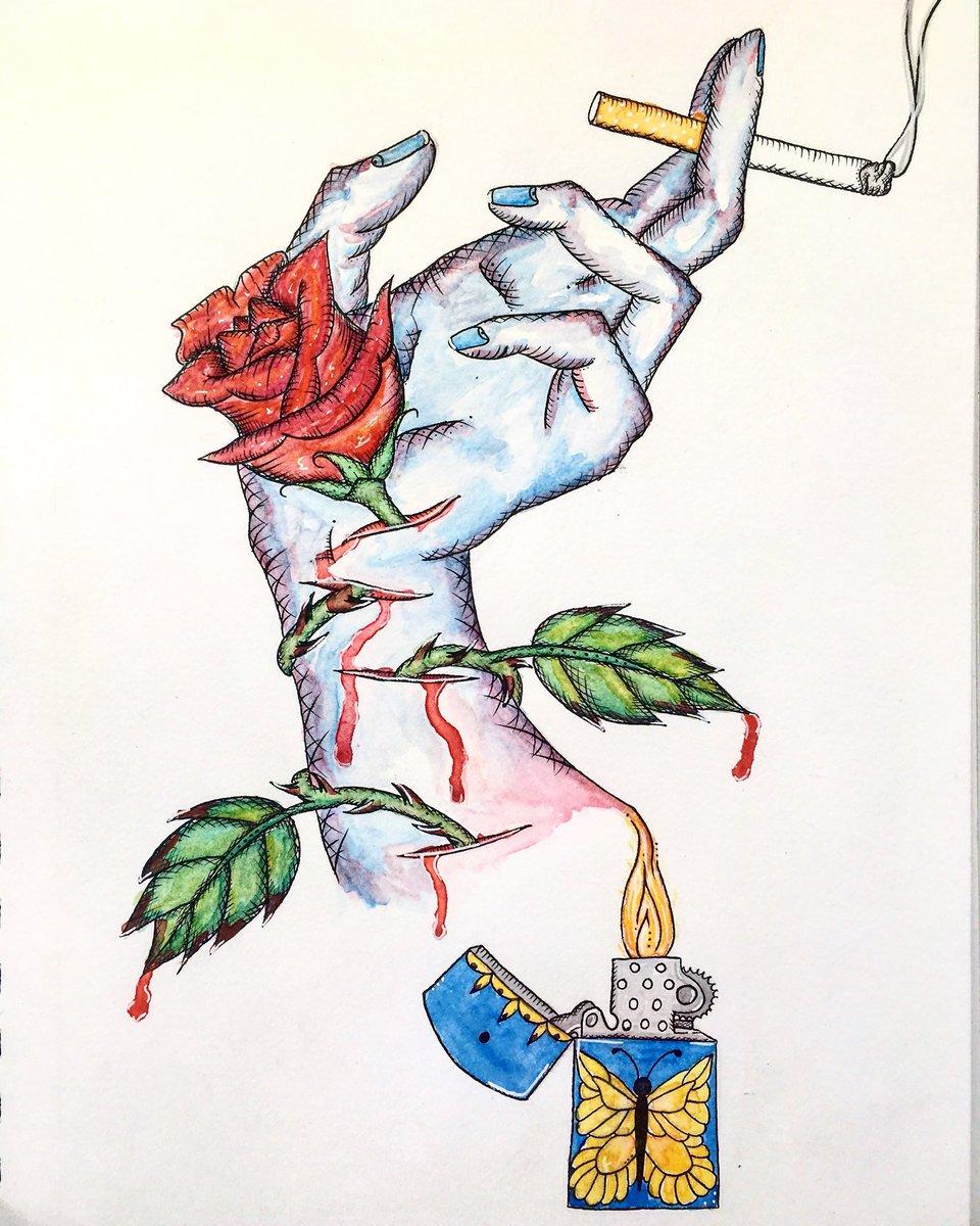 существуют рисунки я против курения и алкоголя растут