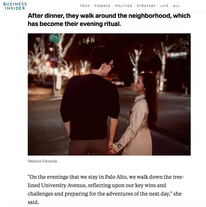 Honestly, so relatable. After dinner, I too love to talk a walk with my wife, reflecting on our key wins businessinsider.com/a-day-in-the-l…
