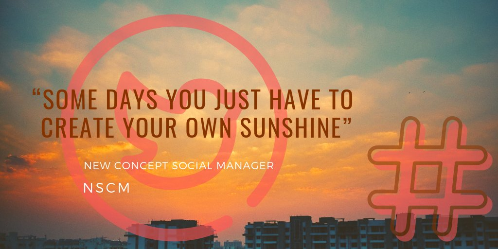 """SOME DAYS YOU JUST HAVE TO CREATE YOUR OWN SUNSHINE""  💛💛💛💛 http://bit.ly/fbfv1  💛💛💛💛 #newconceptsocialmanager #smm @LinkedIn #ThingsSaidBehindMyBack #WednesdayWisdom #HappyHalloween  #SurviveHalloweenIn4Words #WorldCitiesDay @Farah  #RBIvsGovt #AasiaBibi #Hashimpura"