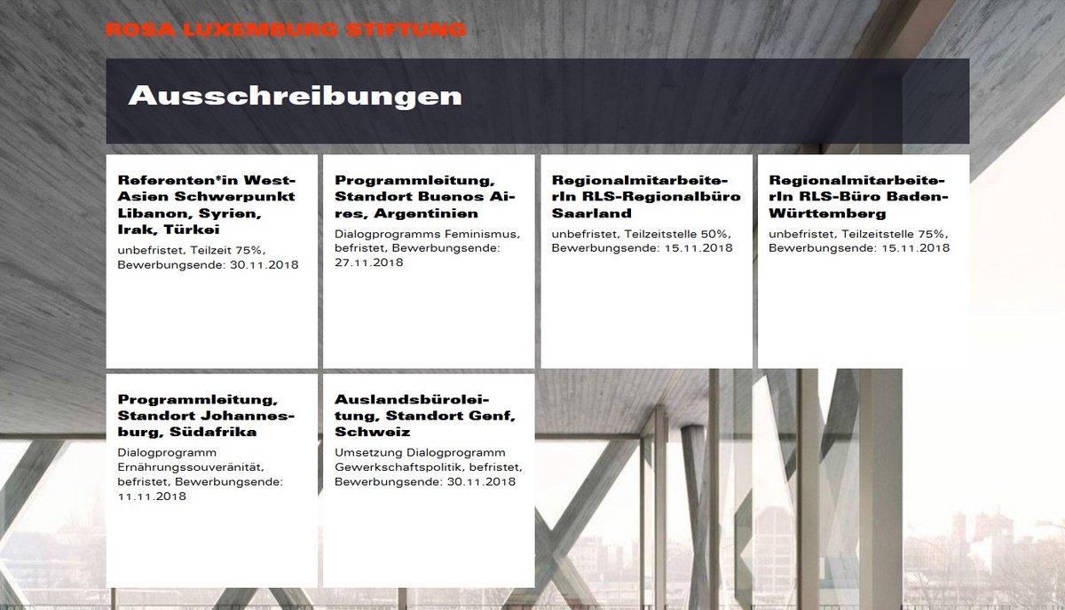 Rosa Luxemburg Stiftung On Twitter Gleich 6 Ausschreibungen Auf