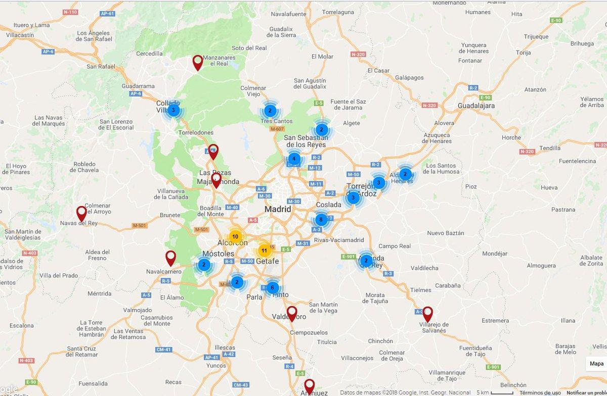 Mapa Comunidad De Madrid Por Codigos Postales.Info Madrid Itv Ar Twitter En Este Puente No Salgas A La