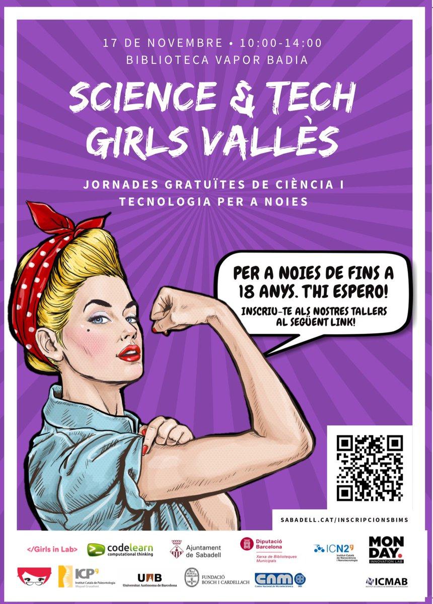 Que la pluja no ens pari avui👻 No us portem cap susto, tot el contrari! Jornades gratuïtes de ciència i tecnologia de la mà de Science & Tech Girls Vallès💥  📅Dissabte 17 de novembre / 10.00-14.00 h 📍 Biblioteca Vapor Badia 🤖 Els alumnes presentaran a les assistents un robot
