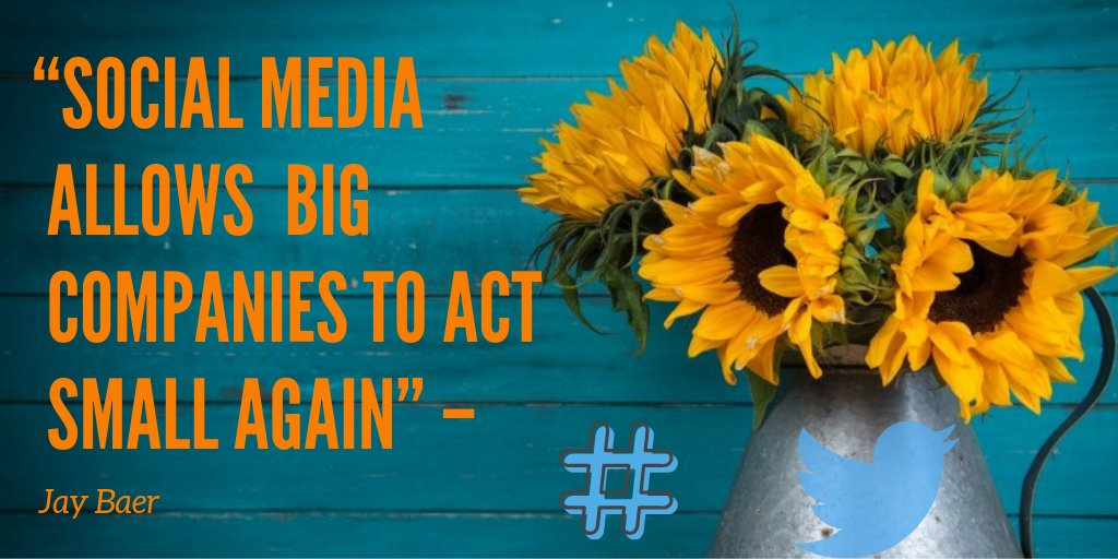 """Social media allows big companies to act small again""  @jaybaer 💛💛💛💛 http://bit.ly/fbfv1  💛💛💛💛  #newconceptsocialmanager #smm @LinkedIn #ThingsSaidBehindMyBack #WednesdayWisdom #HappyHalloween  #SurviveHalloweenIn4Words #WorldCitiesDay @Farah  #RBIvsGovt #AasiaBibi"