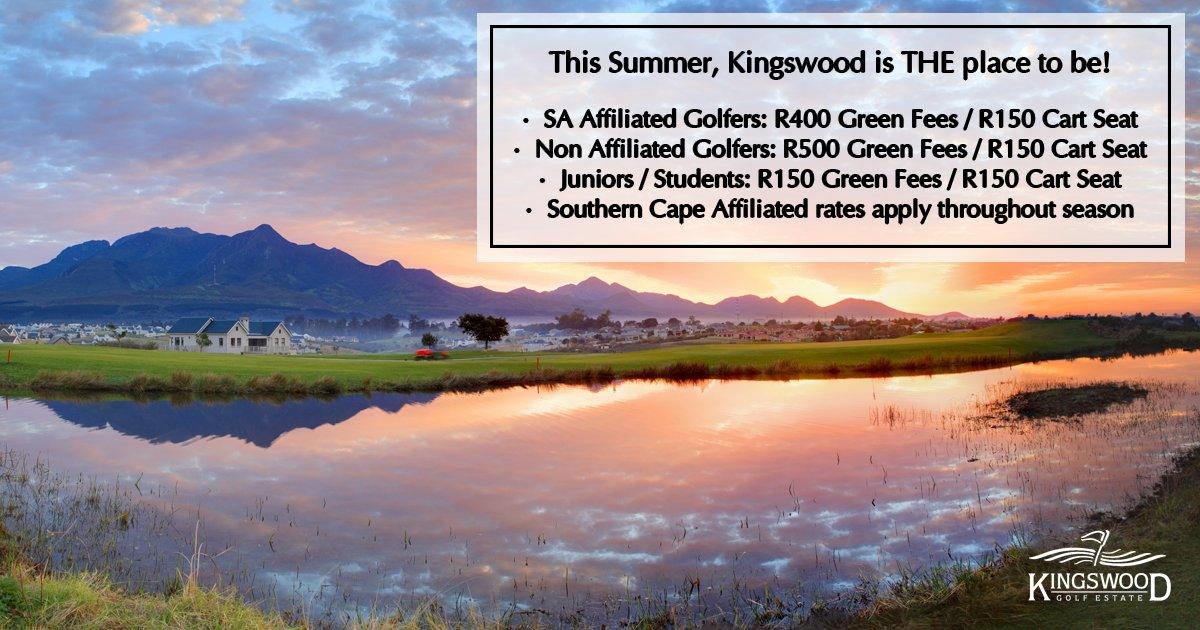 BEST GREENS MOST Affordable Rates On The GardenRoute O SA Affiliated Golfers R400 Green Fees R150 Cart Seat Non R500