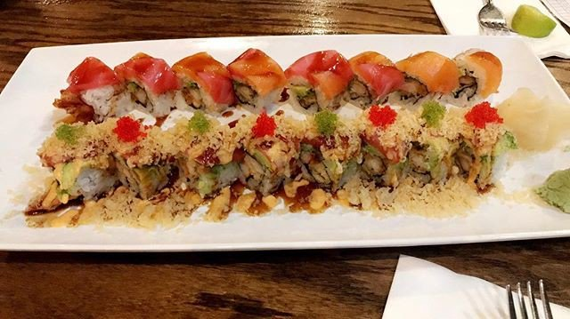 Reposting @ariel_say_cheese: This tasted just as good as it looks!!! . . . . #therealcheese #saycheese #overacheeser #maxedoutmom #momof3 #foodporn #myeverydaymoments #sushi  #atlnightlife #foodblog #momswhoblog #blackgirlswhoblog #atlanta #lawrenceville #follow #playboyroll